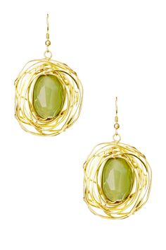 Cam & Zooey Oval Orbit Earrings... Hmmm I wonder if my Aunt could make something similar for me?!