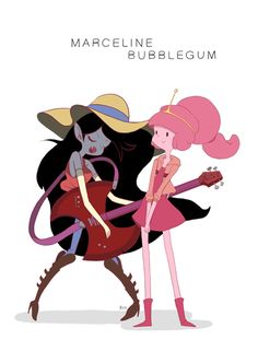 Marceline & Bubblegum by gangberry