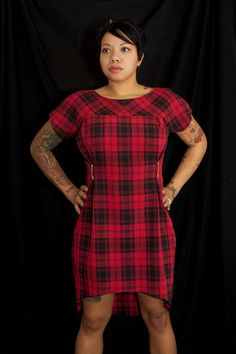 Alexander Mcqueen inspired plaid punk mod dress- - Size Medium. $35.00, via Etsy.