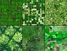 Arial view agricultural patterns