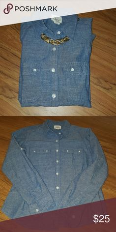 Levi's denim shirt Worn many times but still in good condition Levi's Tops Tees - Long Sleeve