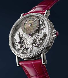 Breguet creations for Ladies have a truly unique appeal. Today like in the past, Breguet has a strong link with its female audience thanks to timepieces which are symbols of refinement, savoir-faire and femininity. Perles Impériales. Tradition Dame 7038. Classique Phase de Lune Dame ref. 9088. Reine de Naples Princesse Mini 9818. Crazy Flower