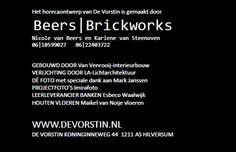De Vorstin - Design Beers Brickworks Brickwork, Beer, Cards Against Humanity, Design, Root Beer, Masonry Construction, Design Comics, Brick Walls