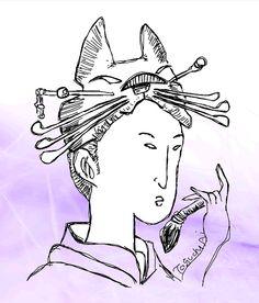 Trick art Utamaro's style