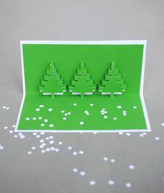 DIY : des cartes de voeux pixelisées!