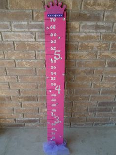 Girls Hand Painted Princess Growth Chart by CreatingMoore on Etsy, $25.00