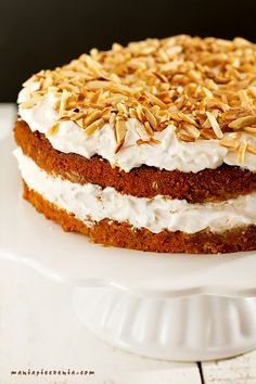 Carrot & Coconut Cake - gluten and lactose free Lactose Free, Dairy Free, Gluten Free, Homemade Pastries, Tiramisu, Carrots, Ale, Food And Drink, Baking