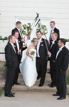 Cool golf wedding picture . something AJ would want..