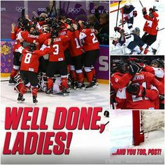Congrats to the Canadian Women's Hockey team for winning Gold! #WeAreWinter #Sochi2014