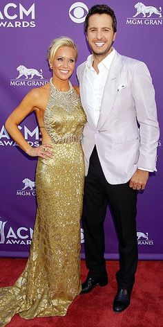 Luke Bryan and his wife at the 2013 ACMs - what a good lookin' couple. Country Music Artists, Country Music Stars, Country Singers, Hot Country Men, Country Boys, Luke Bryan Lyrics, Caroline Bryan, American Country Music Awards, Mark Harmon