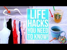 My all time favorite life hacks that make life easier and solve some of life& Nursery Video, Life Hacks Youtube, Life Skills Activities, Life Hacks Every Girl Should Know, Preschool Special Education, Always Learning, House Cleaning Tips, Life Organization, Clean House