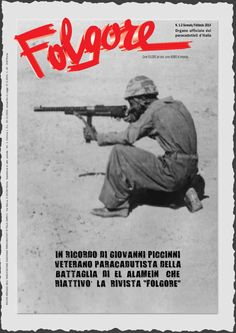 Folgore magazine -, pin by Paolo Marzioli Vintage Advertising Posters, Vintage Advertisements, Vintage Posters, Ww2 Posters, Italian Army, Afrika Korps, Army Men, Paratrooper, Troops