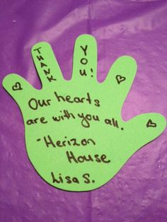 Sending out a thank you to Lisa S. for making a contribution at our Helping Hands Spring Plant & Bake Sale on April 30, 2016 at the Hope 4 Her Hand Made and Local Gift Show in support of Herizon House.