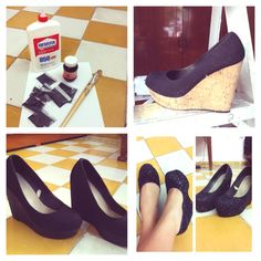 Re-fashioned shoes :))