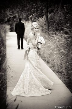 sneak up behind groom before wedding...don't let him see ya!