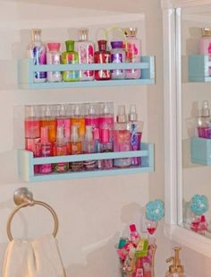 teen room organization perfume storage cabinet best lotion storage ideas on perfume organization teen room organization and room ideas for teen girls cabinet paint home depot home interior figurines jThings to consider when buying perfumePermanent pe Perfume Storage, Perfume Organization, Diy Organisation, Makeup Organization, Organizing, Storage Organization, Diy Bathroom, Bathroom Storage, Interior Design