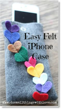 iPhone Case http://felting.craftgossip.com/2013/02/09/four-inspiring-felt-valentines-day-tutorials/#