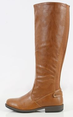 Comfy yet chic, these stretch riding boots are your go-to shoes this Fall season. Cute with suede skirts, leggings or skinnys. | MakeMeChic.com
