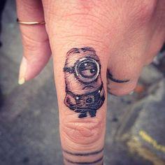 Finger Tattoos Minion
