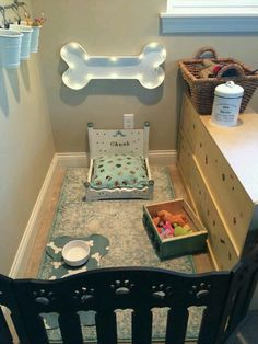 Dog Bedroom elements can add a contact of style and design to any residence. Dog Bedroom can mean many issues to many people, but all of them point to… Animal Room, Dog Bedroom, Bedroom Ideas, Bed Ideas, Bedroom Decor, Puppy Room, Dog Spaces, Small Spaces, Dog Area