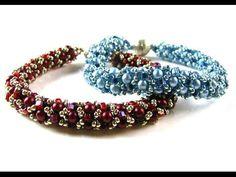 Tubular Netted Pearl Bracelet with Miyuki Hex Beads ~ Seed Bead Tutorials