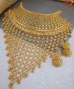 Bridal Jewellery, Wedding Jewellery Designs, Antique Jewellery Designs, Vintage Wedding Jewelry, Bridal Necklace, Gold Jewellery, Gold Necklace, Rajputi Jewellery, Daffodil