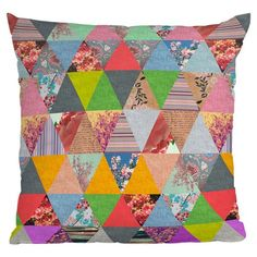 Lost in Pyramid Throw Pillow