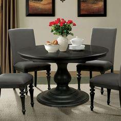 corinne round pedestal dining table