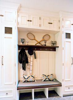 Tennis anyone!  A gorgeous tennis locker/ mudroom.