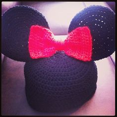 Minnie Mouse Crochet Hat by AhlHomemade on Etsy, $15.00