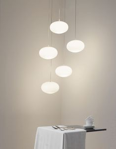 pendant lamp / contemporary / polymer / blown glass
