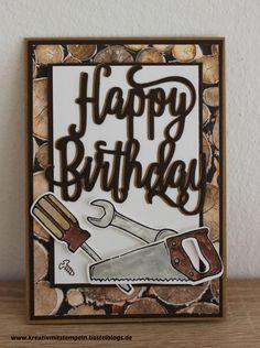 Geburtstagskarte für einen Mann, Stampin up, Hammer, Happy Birthday