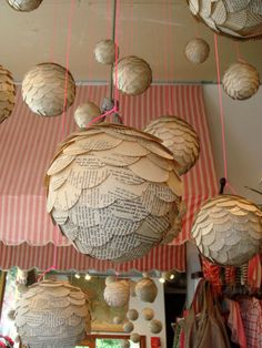 hmmm... a cool idea, and it seems like it would be pretty easy to make.. with some old text books, styrofoam balls, and a glue gun...