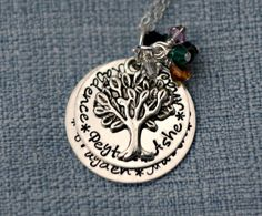 Hand Stamped Grandmother Necklace by 3LittlePixiesShoppe on Etsy, $68.00
