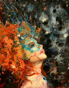 "Saatchi Online Artist Nathaniel St Amour; Painting, ""Ginger Splash"" #art"