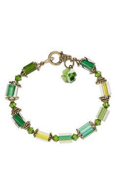 Bracelet with Fire Design Cane Glass Beads and SWAROVSKI ELEMENTS