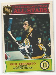 Phil Esposito1975-76 OPC  Hockey Card # 292 Boston Bruins EX #BostonBruins