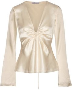 Shop for Knotted Hammered Silk-satin Blouse - Cream by Alexander Wang at ShopStyle. Now for $395.
