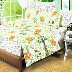 Blancho Bedding - [Summer Leaf] Cotton Duvet Cover Set (Twin Size)(Comforter not included) Full Size Bed Comforter, Down Comforter, King Comforter Sets, Comforter Cover, King Duvet, Bedding Sets, Green Duvet Covers, Duvet Cover Sets, Girls Twin Bed