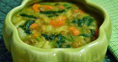 Sopa é tudo de bom, e não tem nada melhor do que um delicioso prato de sopa para aquecer no frio. Esta sugestão é muito simples, deliciosa ... Soup Recipes, Diet Recipes, Vegan Recipes, Chicken Taco Soup, Healthy Menu, Detox Soup, Portuguese Recipes, Ketogenic Recipes, Food Videos