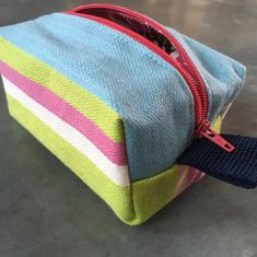 Make up bag, handmade from upcycled fabric 💄💋💝