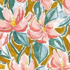 margaret.jeane -  Falling back into a few florals   #floral #patterdesign #printdesign #surfacedesign #surfacespatterns #art #painting #print #pattern #floralpttern