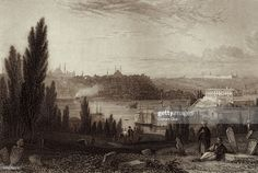 News Photo : View of Constantinople from Pera, also known as... Fine Art Prints, Framed Prints, Canvas Prints, Vintage Drawing, Music Pictures, The Draw, Architecture Drawings, Gloss Matte