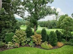 Super Backyard Trees Placement Landscape Design Ideas - All For Garden Landscape Borders, House Landscape, Landscape Plans, Landscape Design, Garden Design, Landscape Timbers, Landscape Architecture, Acreage Landscaping, Privacy Landscaping