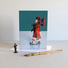 Scottish piper card Scottish bagpiper card by SusannahNathanson