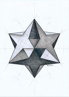 #solid #polyhedron #geometry #symmetry #pattern #mathart #regolo54 #hexagon #triangle #circle #escher
