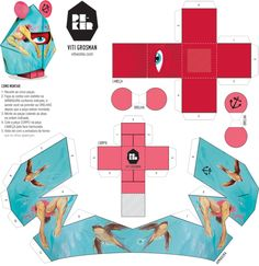 PEKER Paper Toy collection by Ana Laydner, via Behance