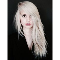 White Hair ❤ liked on Polyvore featuring hair