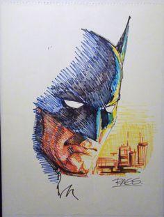 Rags Morales - BATMAN The Dark Knight, in the November 2011: Weapons Over Powers Comic Art Sketchbook
