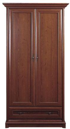 Kent - Wardrobe Impact Furniture Shop UK - Elegant wardrobe in dark colour of brown.